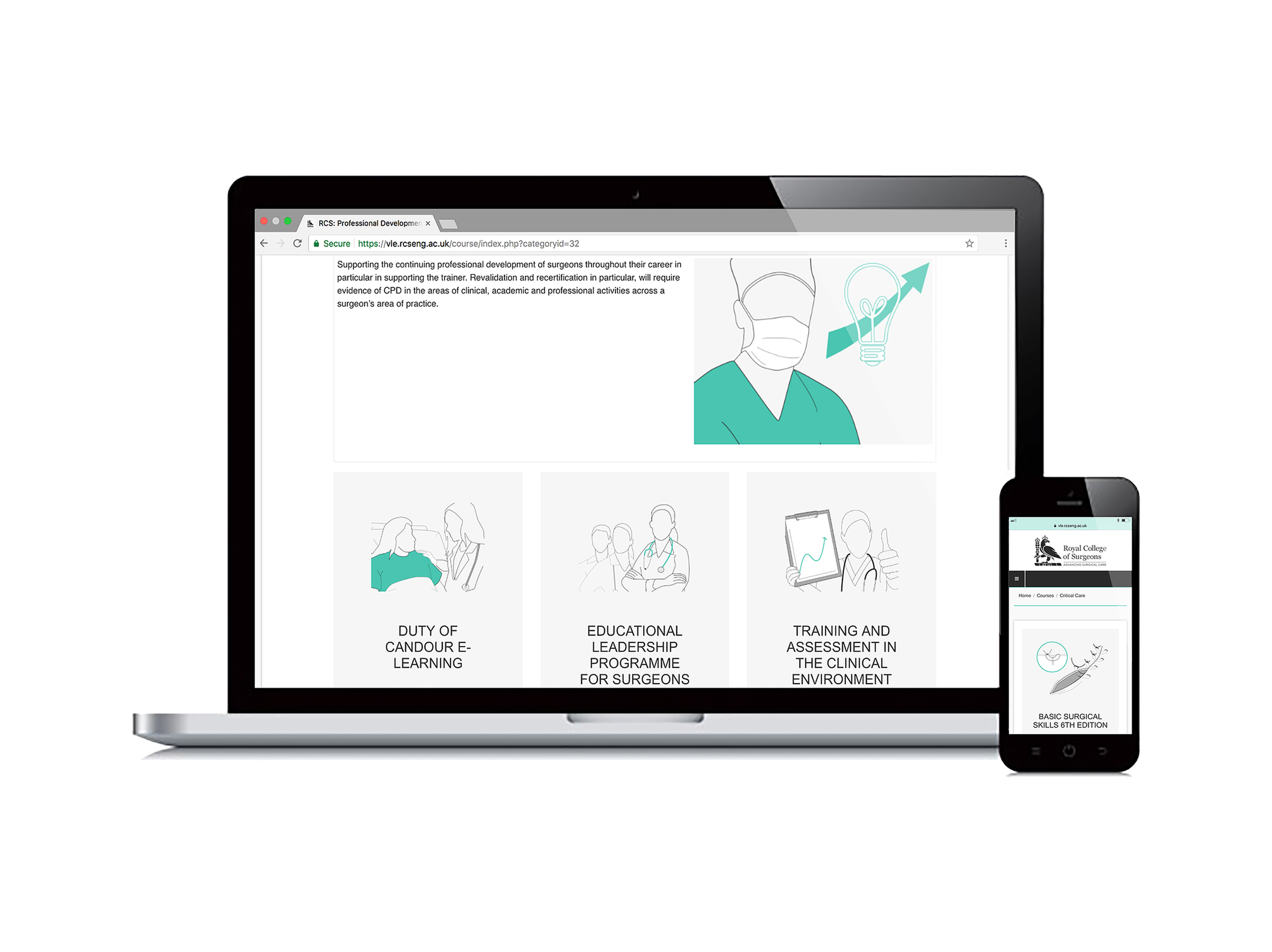 E-learning categorization illustrations: The Royal College of Surgeons of England